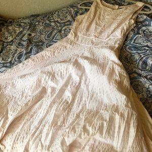 J Crew Light Pink Seer Sucker Midi Dress